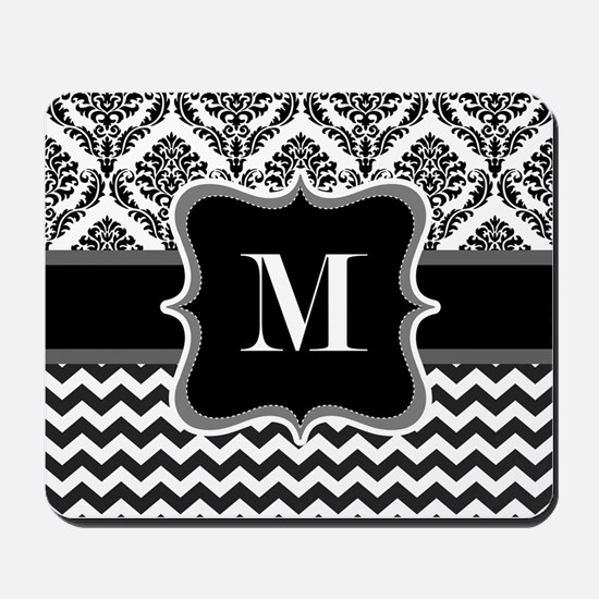Personalised Letter M on Shower Curtain Mousepad