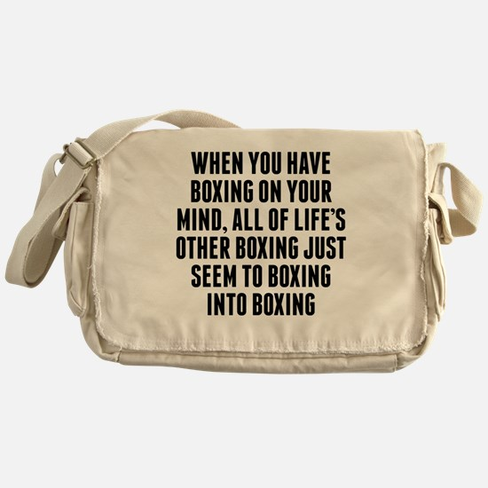 Boxing On Your Mind Messenger Bag