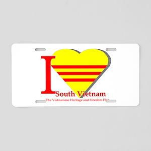 I love Viet Nam Cong Hoa Aluminum License Plate