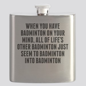 Badminton On Your Mind Flask