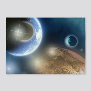 New Planets 5'x7'Area Rug