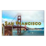 San Francisco Sticker (Rectangle 50 pk)