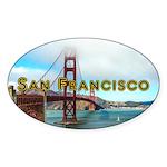 San Francisco Sticker (Oval 10 pk)