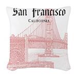 San Francisco Woven Throw Pillow