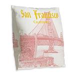San Francisco Burlap Throw Pillow