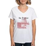 San Francisco Women's V-Neck T-Shirt