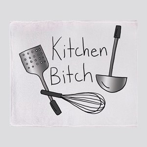 Kitchen Bitch Throw Blanket