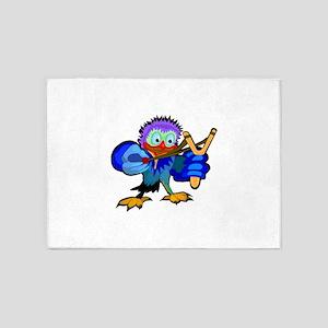 Bird With Slingshot 5'x7'Area Rug