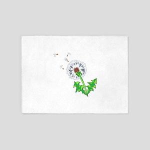 DANDELION FLOWER 5'x7'Area Rug