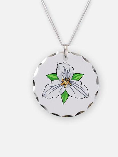 TRILLIUM FLOWER Necklace
