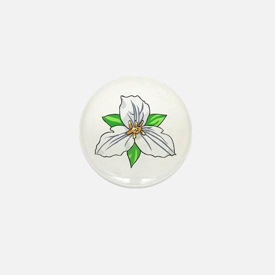 TRILLIUM FLOWER Mini Button