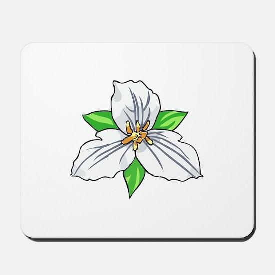 TRILLIUM FLOWER Mousepad