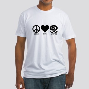 Peace Love And Snakes Fitted T-Shirt