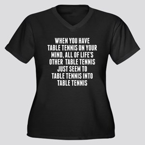 Table Tennis On Your Mind Plus Size T-Shirt