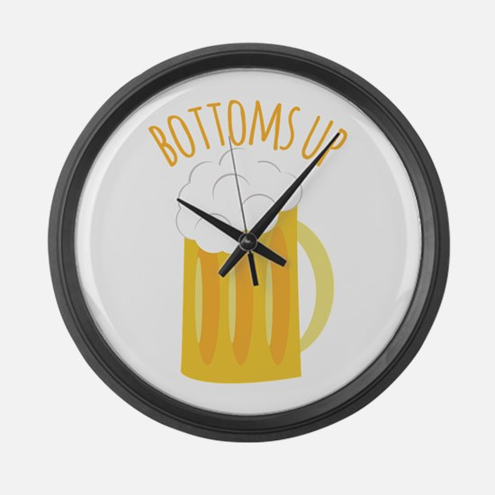 Bottoms Up Large Wall Clock