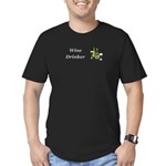 Wine Drinker Men's Fitted T-Shirt (dark)