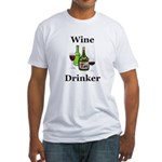 Wine Drinker Fitted T-Shirt
