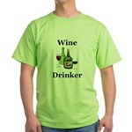 Wine Drinker Green T-Shirt