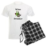 Wine Drinker Men's Light Pajamas