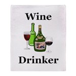 Wine Drinker Throw Blanket