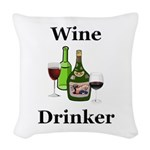Wine Drinker Woven Throw Pillow