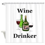 Wine Drinker Shower Curtain