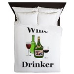 Wine Drinker Queen Duvet