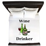 Wine Drinker King Duvet