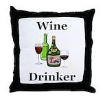 Wine Drinker Throw Pillow