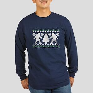 Ugly Holiday Bigfoot Christmas Sweater Long Sleeve