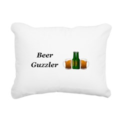 Beer Guzzler Rectangular Canvas Pillow