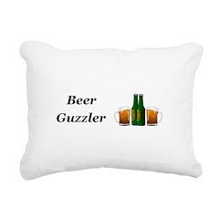 Beer Guzzler Rectangular Canvas Pillow
