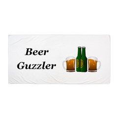 Beer Guzzler Beach Towel