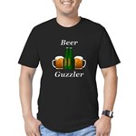 Beer Guzzler Men's Fitted T-Shirt (dark)
