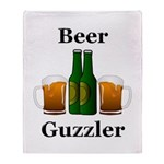 Beer Guzzler Throw Blanket