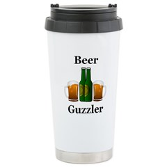 Beer Guzzler Stainless Steel Travel Mug