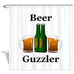 Beer Guzzler Shower Curtain