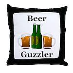 Beer Guzzler Throw Pillow