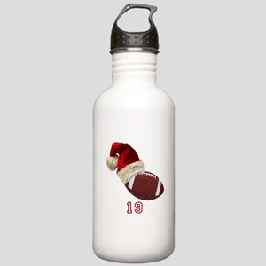Football Santa Water Bottle