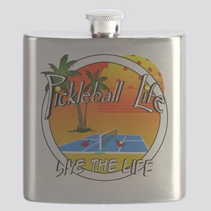 Pickleball Life Live the Life Flask