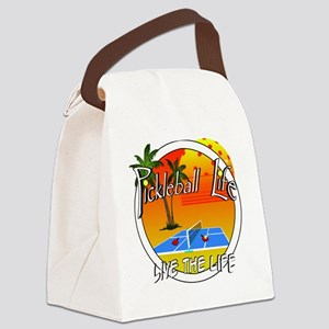 Pickleball Life Live the Life Canvas Lunch Bag