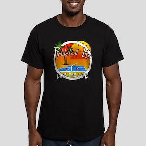 Pickleball Life Live t Men's Fitted T-Shirt (dark)