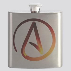 Hot Atheist Symbol Flask