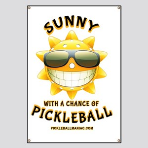 Pickleball Sun with a Chance of Pickleball Banner