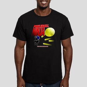 Pickleball Ninja Men's Fitted T-Shirt (dark)