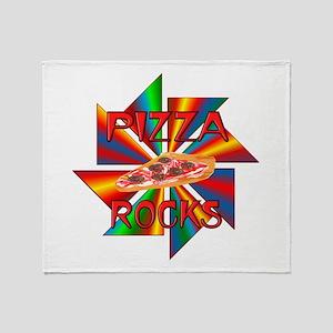 Pizza Rocks Throw Blanket