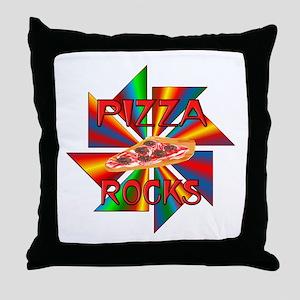 Pizza Rocks Throw Pillow