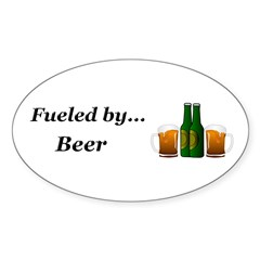 Fueled by Beer Sticker (Oval 50 pk)