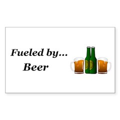 Fueled by Beer Sticker (Rectangle 50 pk)