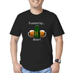 Fueled by Beer Men's Fitted T-Shirt (dark)